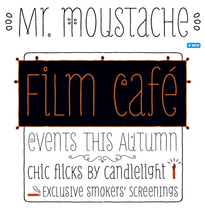 MrMoustasche font sample