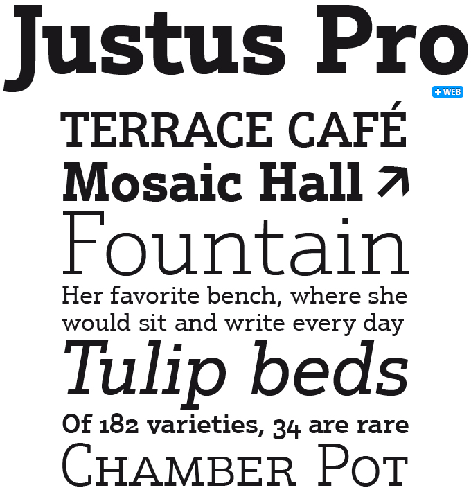 Justus Pro font sample