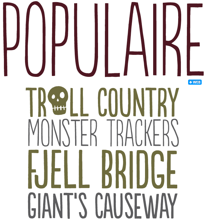 Populaire font sample