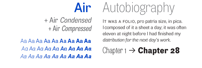 Air font sample
