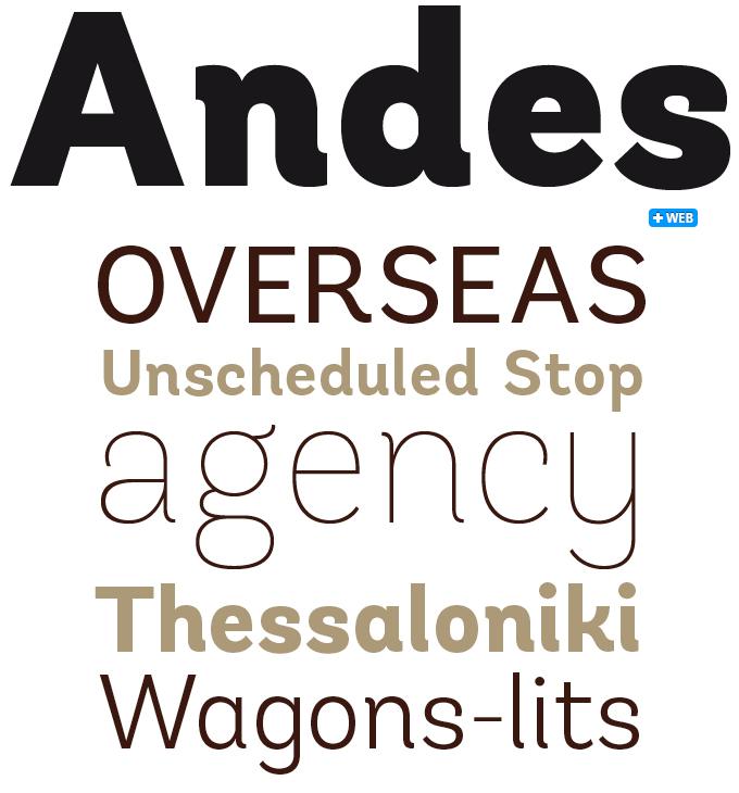 Andes font sample