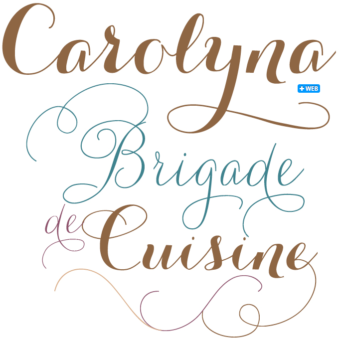 Carolyna Pro and Black font sample