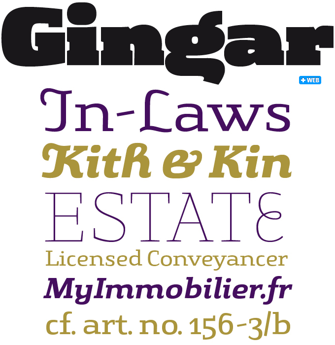 Gingar font sample