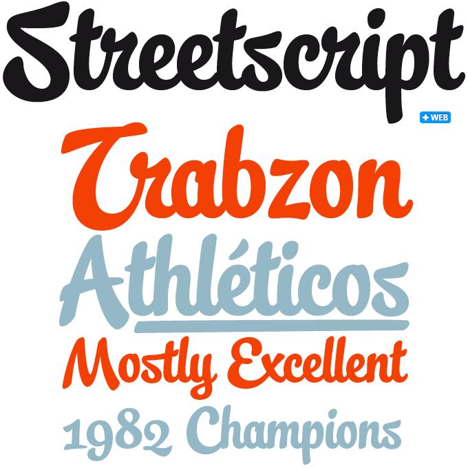 Streetscript font sample