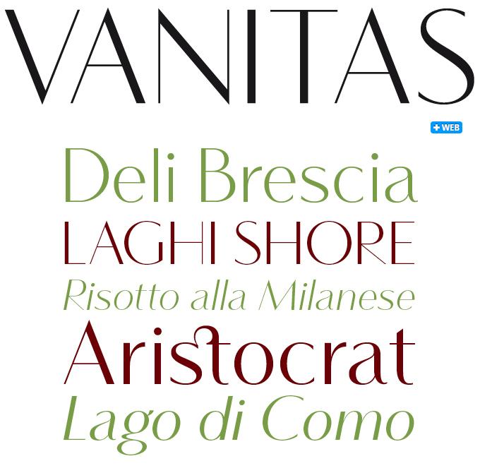 Vanitas font sample