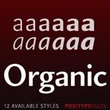 Organic font flag