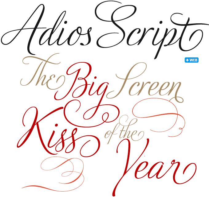 Adios script pro font sle