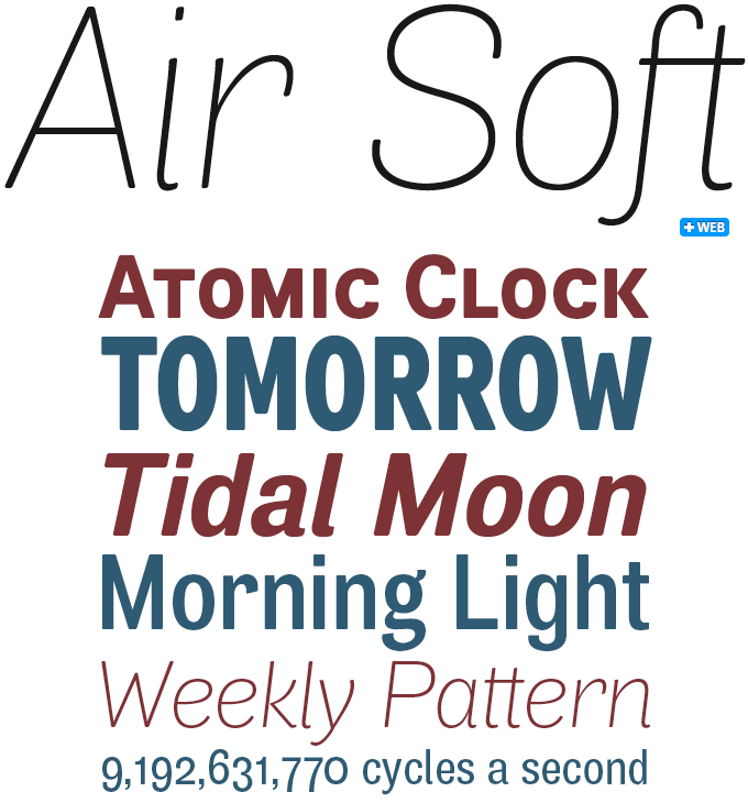 Air Soft font sample