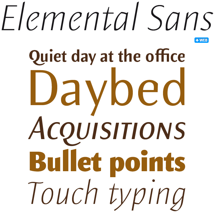 Elemantal Sans font sample