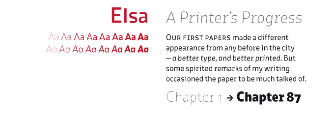 Elsa font sample