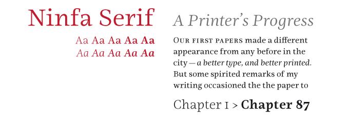Ninfa Serif font sample