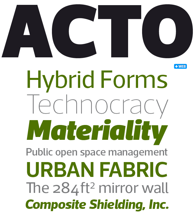 Acto font sample