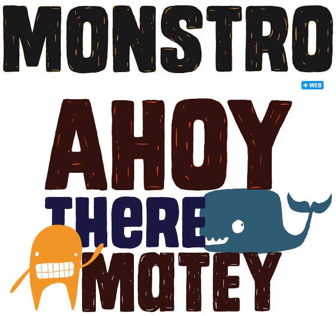 Monstro font sample