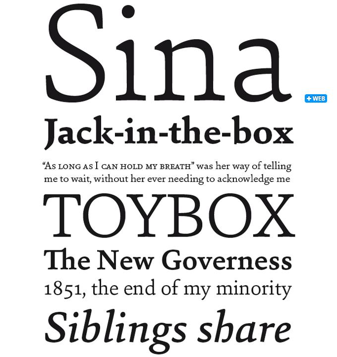 Sina font sample