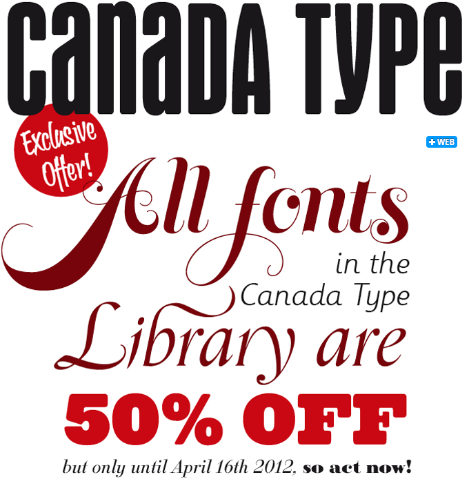 Canada Type fonts