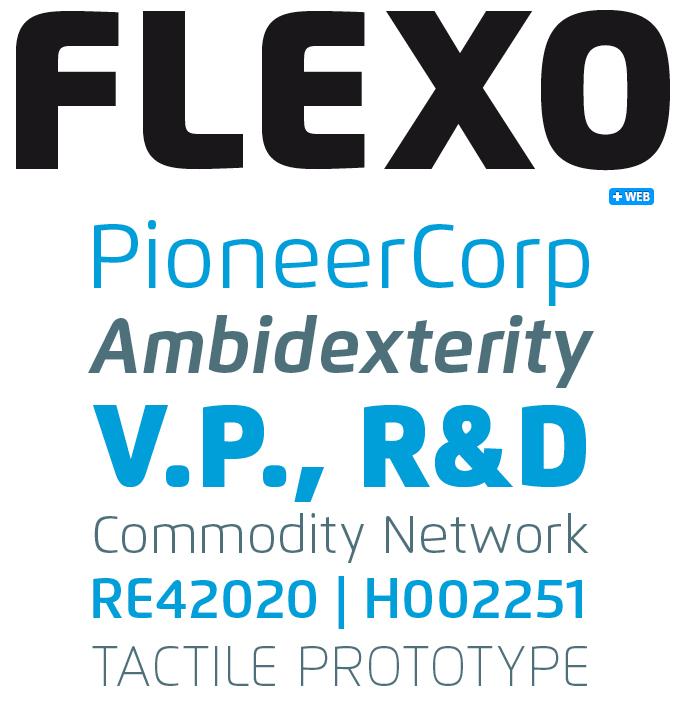 Flexo font sample