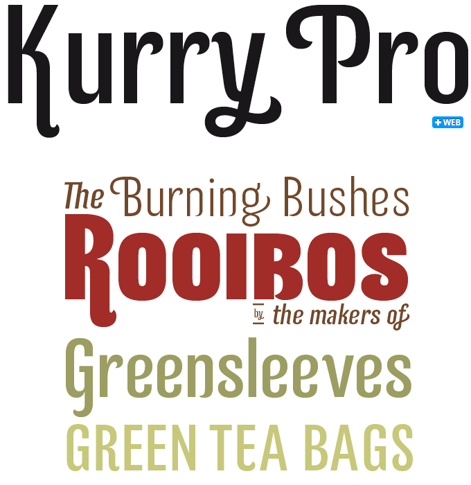 Kurry Pro font sample