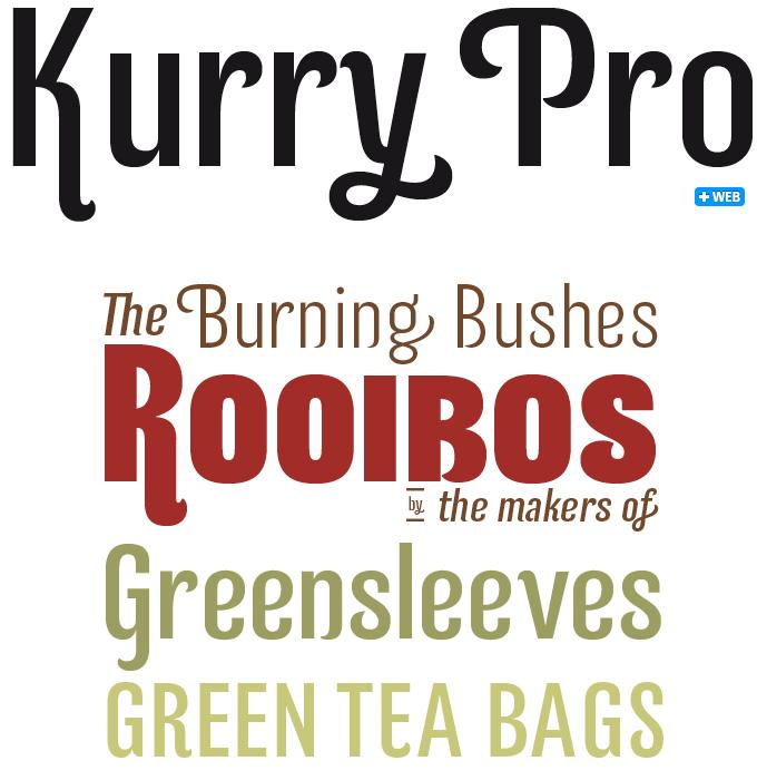 Kurry Pro font sample