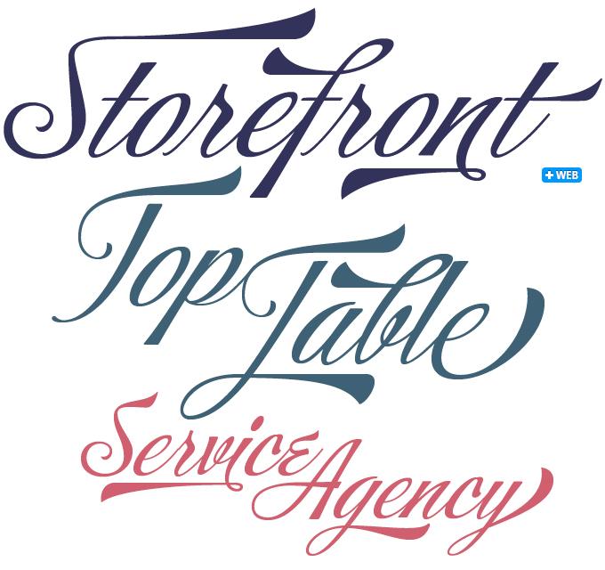Storefront font sample