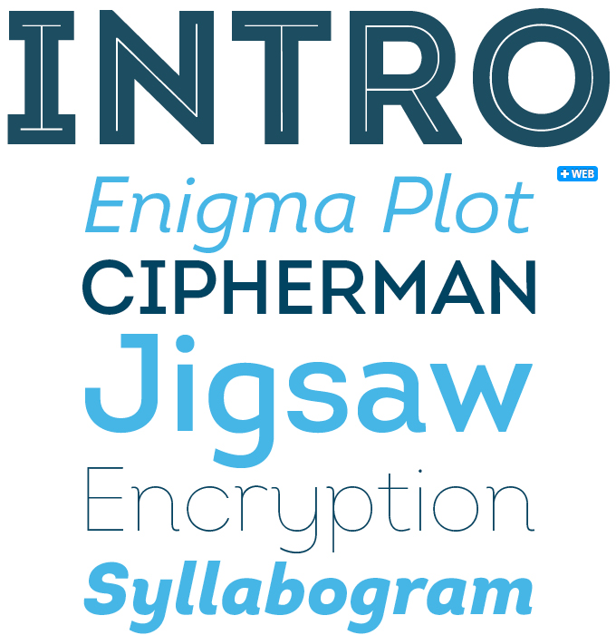 Intro font sample