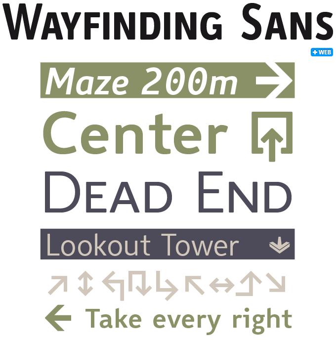 Wayfinding Sans font sample