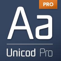 Unicod font flag