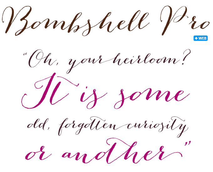 Bombshell font sample