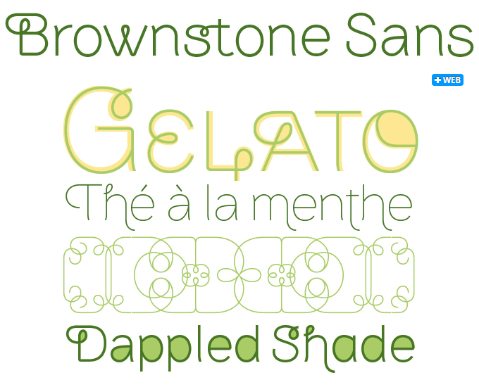 Brownstone Sans font sample