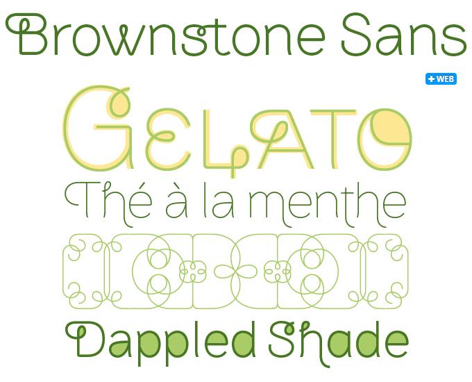 Brownstone Sans font sample