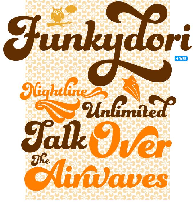 Funkydori font sample