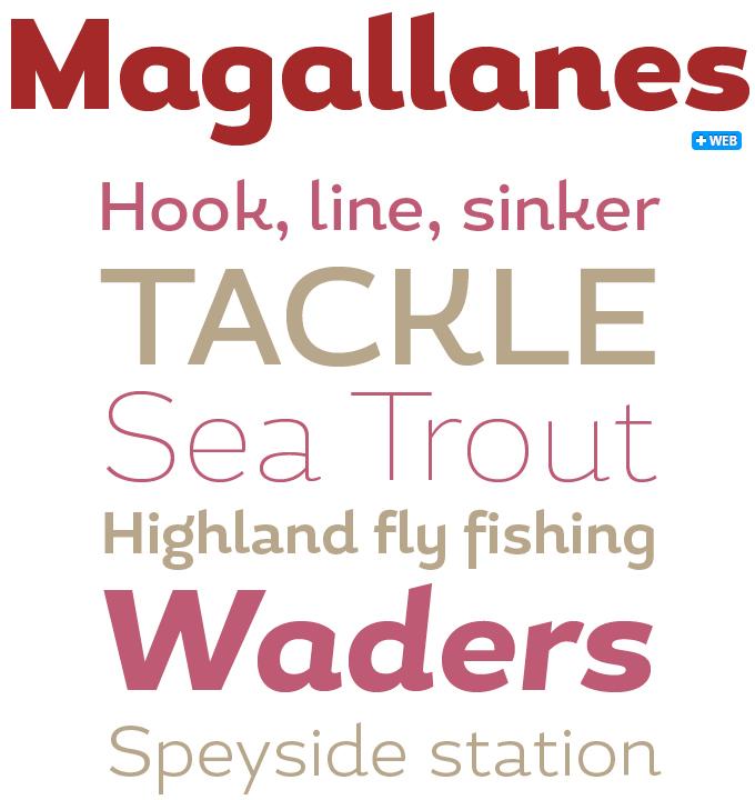 Magallanes font sample