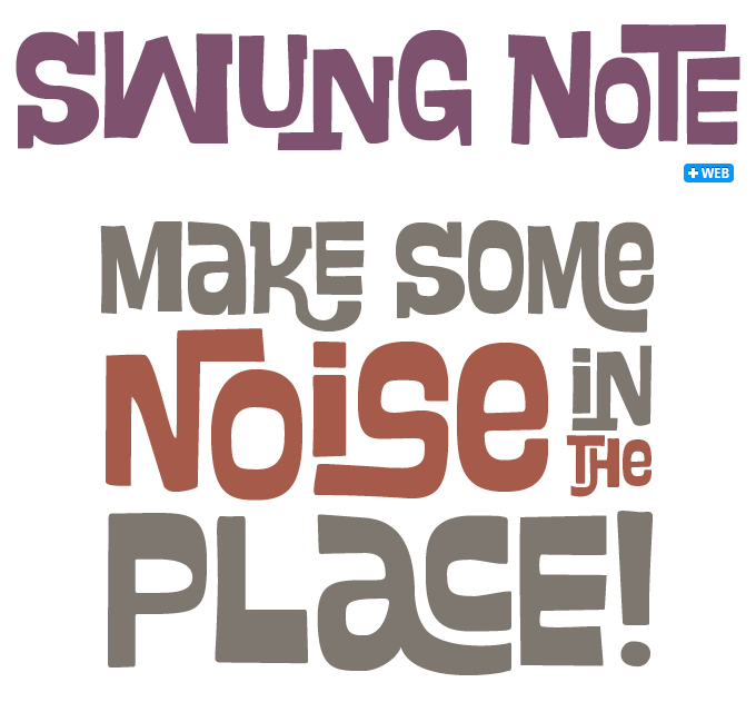 Swung Note font sample