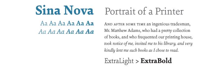 Sina Nova font sample