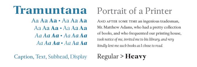 Tramuntana font sample