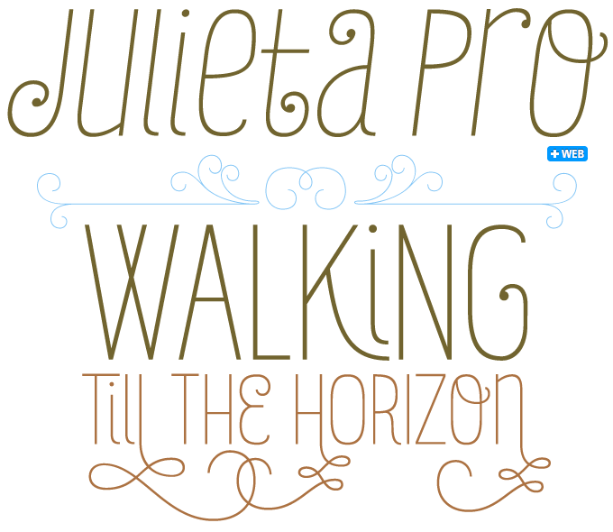 Julieta font sample