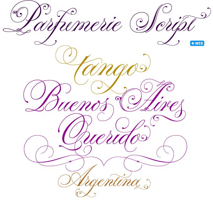 Sponsored font parfumerie script