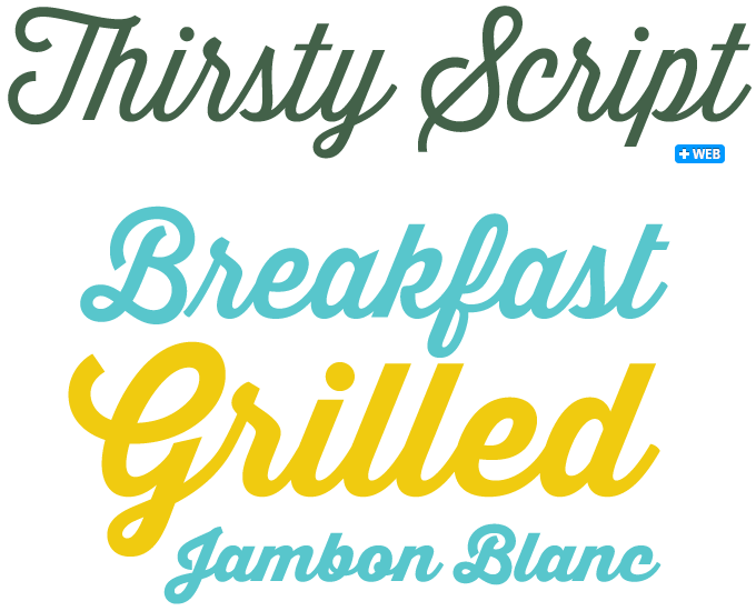 Thirsty Script font sample