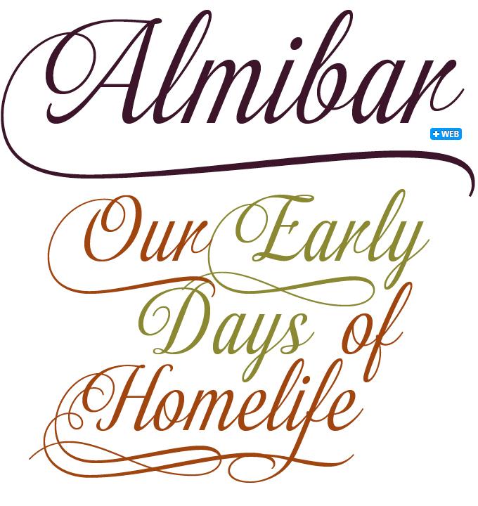 Almibar font sample