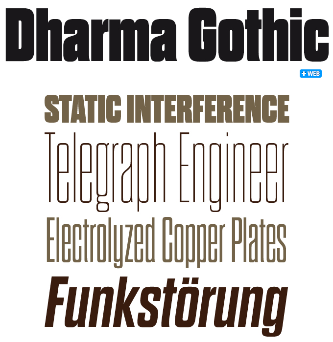 Dharma Gothic font sample
