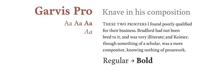 Garvis font sample
