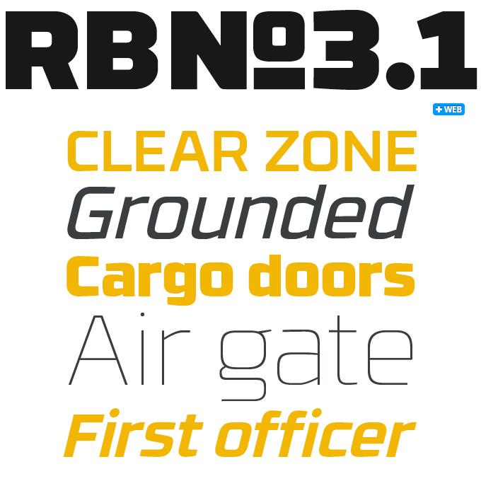 RBNo3.1 font sample