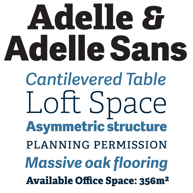 Adelle font sample