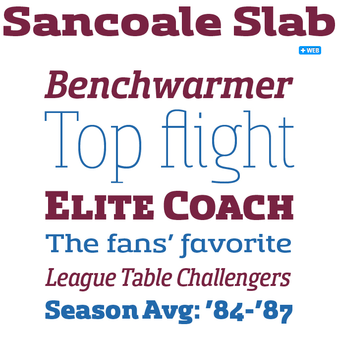 Sancoale Slab font sample