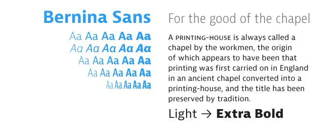 Bernina font sample
