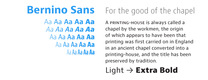 Bernino font sample