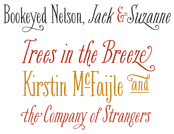 Bookeyed Nelson font sample