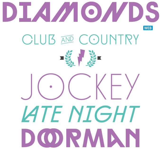 Diamonds font sample
