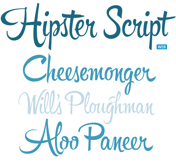 Hipster font sample