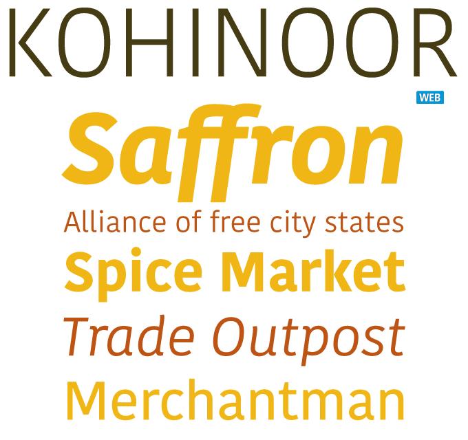 Kohinoor font sample