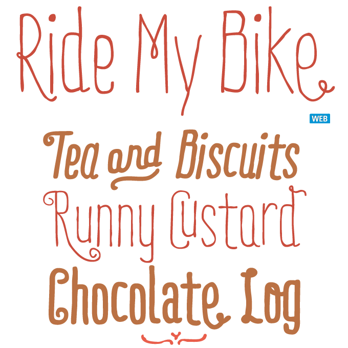 Ride My Bike font sample